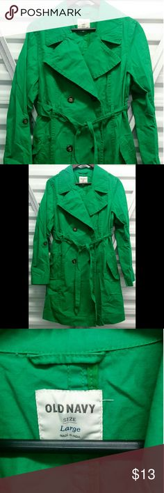 Old Navy Trench Coat Green Old Navy Trenchcoat. Worn once or twice. In great condition. Old Navy Jackets & Coats Trench Coats