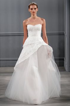 Monique Lhuiller. See more looks from Bridal Fashion Week Spring Summer 2014 http://on.elleuk.com/ZIfARk