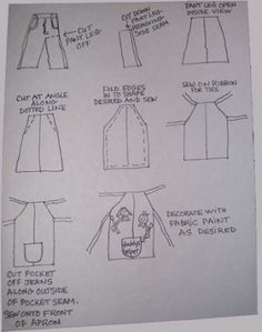 Sewing Tutorials, Sewing Crafts, Sewing Projects, Sewing Patterns, Sewing Hacks, Apron Patterns, Dress Patterns, Easy Apron Pattern, Bag Patterns