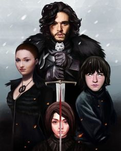 Game Øf Thrones House Stark fan art