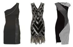 Little black dress for Flamboyant Gamine Kibbe body type.