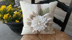 Romantic  Lace and  Oyster  Burlap  17 X 17 Pillow by cindidavis1, $20.00
