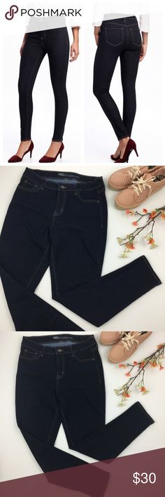 Old Navy Dark Wash High Rise Rockstar Skinny Jeans Worn once or twice. In excellent condition. Old Navy Jeans Skinny
