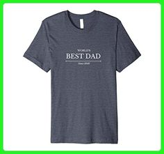 Mens World's Best Dad, Since 2016 - Men's Father's Day T-Shirt Small Heather Blue - Relatives and family shirts (*Amazon Partner-Link)