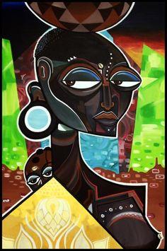 Kalkidan Assefa: An Afro twist to Abstract Art - AFROPUNK