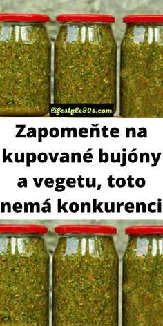 Czech Recipes, Home Canning, Food Art, Food And Drink, Vegetarian, Herbs, Lunch, Healthy Recipes, Homemade