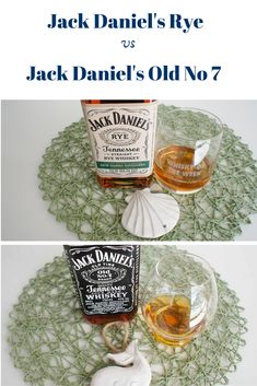 Side by Side: Jack Daniel's Rye vs Old No 7 Whiskey Comparison