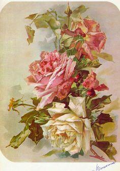 Rosas pintadas por C. Klein