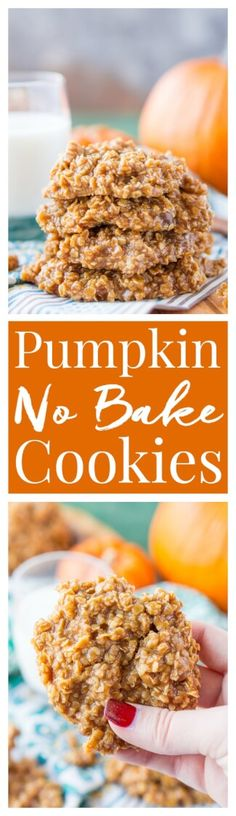These Pumpkin No Bake Cookies are crazy delicious and so simple to make! Made with oatmeal, pumpkin spice pudding mix, sugar, butter, and more, these cookies will be a hit at home, the office, or a party! Don't let fall pass you by without making a batch! via @sugarandsoulco