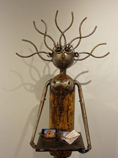 Metal sculptures by Phillip Glashoff exhibted at the Mumms Winery near Calistoga, CA by Alaskan Dude, via Flickr