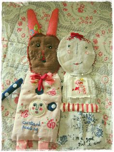 julie arkell inspired rag dolls by peregrine blue, via Flickr