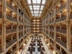 Best Libraries in the world - Peabody Library