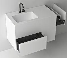Small space bathroom. Simple elegant!