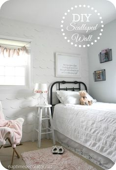 DIY wood scalloped wall - wood wall treatment for under $40!