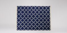 Soho Wool Navy Trellis Hand-woven Rug | Swoon Editions