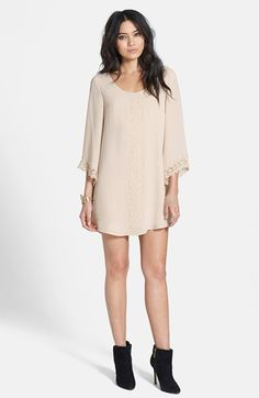 ASTR Lace Trim Shift Dress available at #Nordstrom I will just add nice leggings due to be too short for me...