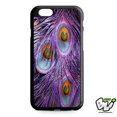Purple Feather Peacock iPhone 6 Case | iPhone 6S Case