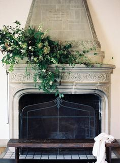 Creating a floral and foliage display for a fireplace mantelpiece certainly makes a spectacular statement and the design possibilities are endless…. This architectural feature lends itself be… Flower Decorations, Wedding Decorations, Wedding Ideas, Wedding Reception, Wedding Inspiration, Tent Wedding, Wedding Ceremonies, Wedding Styles, Wedding Mantle