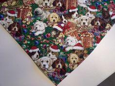 Bandana/Scarf Tie On Christmas Dogs Custom Made by Linda xS, S, M, L, xL #CustomMadebyLinda