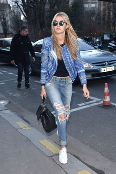 Gigi Hadid out during Paris Fashion Week. See all of the model's best looks.