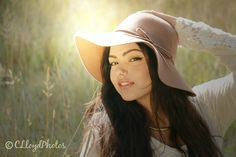 Senior Photos, meadow, sun glare