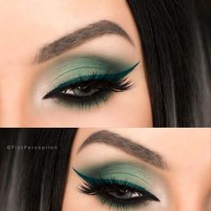 Gorgeous Green Eye Makeup shared by Lane on We Heart It - Gorgeous Green Eye Makeup shared by Lane on We Heart It make up, beauty, and eyes image Mauve Makeup, Eye Makeup Art, Makeup For Green Eyes, Smokey Eye Makeup, Skin Makeup, Eyeshadow Makeup, Green Eyes Pop, Eyeshadows, Eyeliner