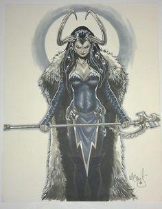 Convention Sketch: Lady Loki by Mark Brooks