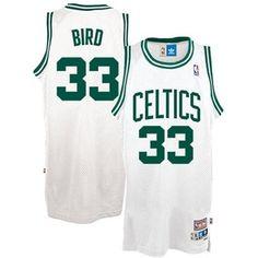 3ed4b501b adidas Boston Celtics  33 Larry Bird White Hardwood Classics Swingman  Basketball Jersey