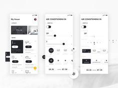 Smart home APP 练习 app home furnishing intelligence Flat Web Design, App Home, App Design Inspiration, Design Ideas, Mobile Ui Design, Mobile App Ui, Screen Design, Design Graphique, Apps