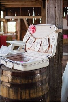 have wedding cards box be a suitcase