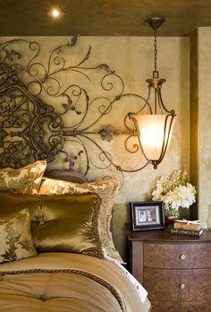 Bedroom - mediterranean - bedroom - san diego - by Robeson Design Home Bedroom, Bedroom Decor, Master Bedrooms, Tuscan Bedroom, Modern Bedroom, Dream Bedroom, Master Bath, Bedroom Ideas, White Bedrooms