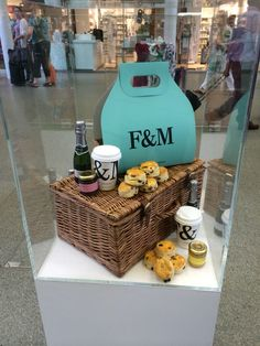 Fortum & Mason our cups on display at St Pancras station Madison Parker, Us Cup, Fortnum And Mason, High Tea, Picnic, Basket, Paper Cups, Prints, Display