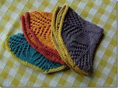 Beautiful knitted dishcloths