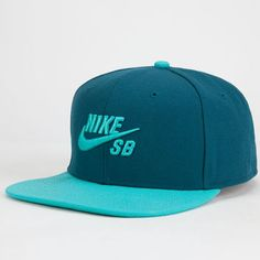 Nike Sb Icon Mens Snapback Hat Teal Blue One Size For Men 25402224601 Nike  Sb ef7a5903d9c9