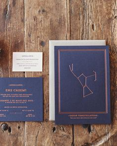 Who says wedding stationery can't be masculine?