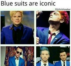 Blue suits are iconic... Look at  ty Jo and spooky Jim