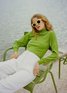 grne Kampagne summer campaign Sun Buddies spring/summer campaign, Photographed by Osma Harvilahti in Paris, France Looks Style, Looks Cool, Green Fashion, Spring Fashion, Pop Fashion, Curvy Fashion, Runway Fashion, Girl Fashion, Style Vert