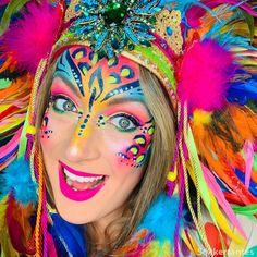 Colourfull Leopard Paint von Ingrid Sôkkertantes Make-up und DIY . - Famous Last Words Carnival Makeup, Carnival Costumes, Bodysuit Tattoos, Pink Makeup, Face Makeup, Adult Face Painting, Face Painting Designs, Festival Makeup, Future Fashion