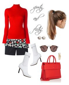 """""""sporty and flirty"""" by jennross76 ❤ liked on Polyvore featuring Emanuel Ungaro, Blumarine, Vetements, Givenchy, NIKE, Oliver Peoples and Lucky Brand"""