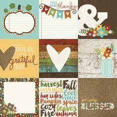 - Simple Stories 4 x 4 Card Elements is part of the Pumpkin Spice Collection. Double sided Simple Stories scrapbooking 4 x 4 cards on one 12x12 sheet Perfect for all your fall scrapbooking layouts, mi