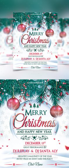 Christmas Poster Template  Illustration    Christmas