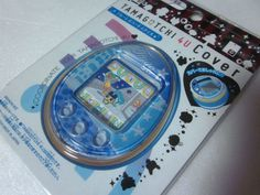 New TAMAGOTCHI 4U Plate Cover Blue Leopard Made in JAPAN BANDAI F/S #Bandai