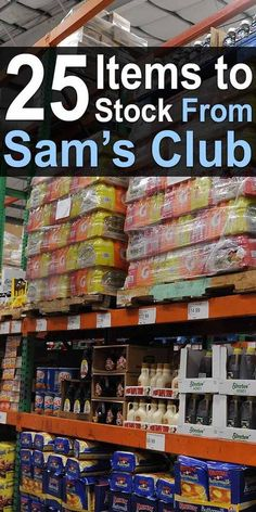 25 Items to Stock From Sam's Club. Watch this video to see the list of 25 items to help cover your basic meals and needs. Emergency Preparedness Food, Prepper Food, Emergency Preparation, Survival Prepping, Survival Skills, Survival Hacks, Survival Life, Emergency Planning, Survival Gadgets