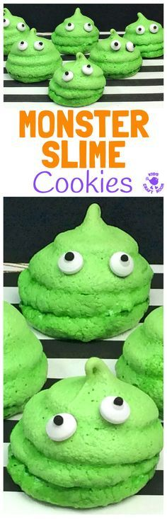 HALLOWEEN MONSTER SLIME COOKIES - A quick and easy Halloween recipe for cooking with kids. Your little monsters will love making and eating these Halloween treats. Monster Slime Cookies are so fun and tasty and look brilliant as part of your Halloween foo