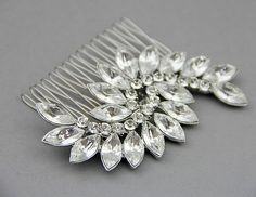 Weding hair comb bridal hair comb crystals by LavenderByJurgita, $64.00
