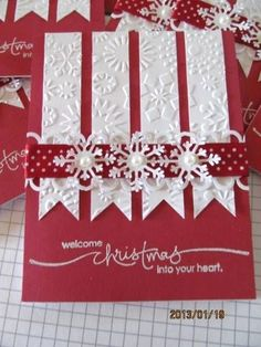 elegant pearl and snowflakes DIY Christmas Card More