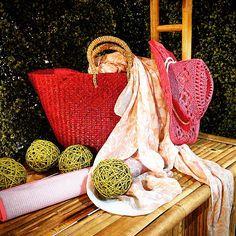 #MandarinaHome #Home #bolso #esterilla #rosa #gorro #bambú #foular #pañuelo #verde #vigo #pontevedra #decoración #regalo #primavera2015 #primavera