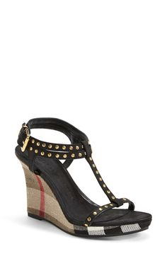 6582dbfe868 Burberry  Harbeton  Wedge Sandal (Women) available at  Nordstrom Womens  Shoes Wedges
