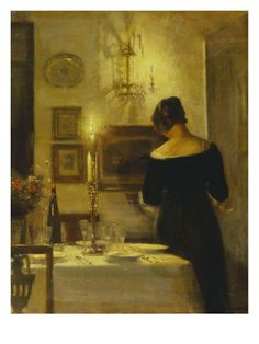 a0557583f95 In the Dining Room ~ by Carl Holsoe Bekannte Maler