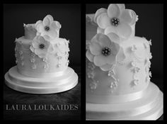 This is my very first wedding cake, I really enjoyed making this!!  I hope you all like it!!     - Laura x
